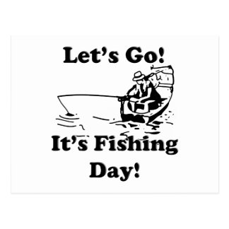 Va el día de pesca postales