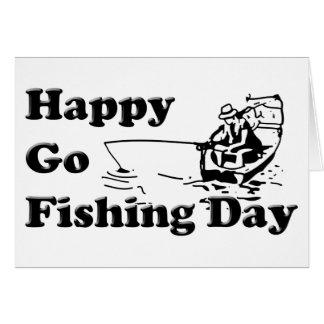 Va el día de pesca tarjeta pequeña