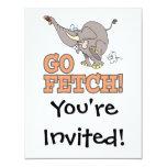 va el dibujo animado divertido del elefante de la invitación 10,8 x 13,9 cm