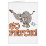 va el dibujo animado divertido del elefante de la  tarjeta