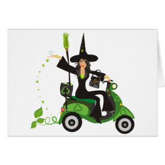 Va el encanto verde de las brujas tarjeta pequeña