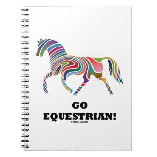 ¡Va el Equestrian Remolino del color del caballo Libreta