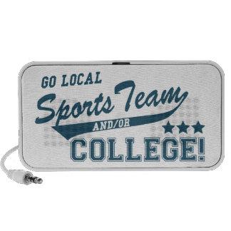 Va el equipo de deportes local y o la universidad mini altavoz