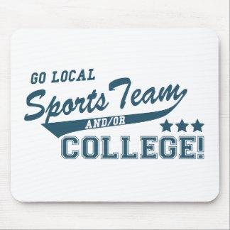 Va el equipo de deportes local y o la universidad tapete de raton
