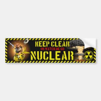 Va el estilo nuclear de la cucaracha etiqueta de parachoque