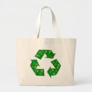 Va el flower power verde recicla el bolso de compr bolsa tela grande