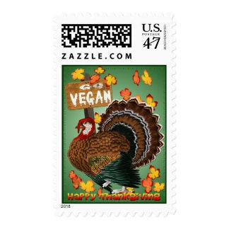 Va el franqueo de la Vegano-Acción de gracias Sellos Postales