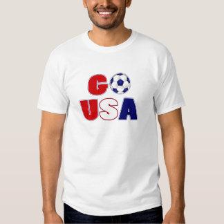 Va el fútbol de los E.E.U.U. Playera