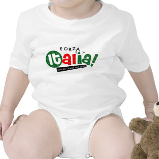 Va el fútbol del mundo de Italia Traje De Bebé