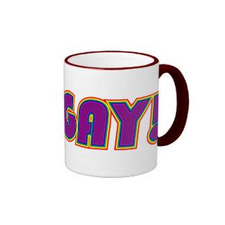 ¡VA EL GAY! taza homosexual/lesbiana de la taza