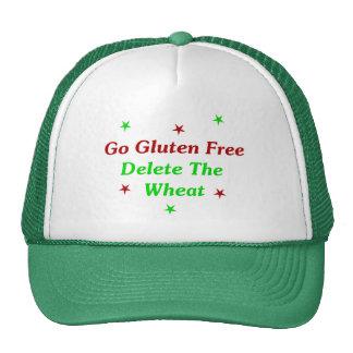 Va el gluten libre: Suprima el trigo Gorros Bordados