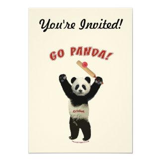Va el grillo del oso de panda anuncio personalizado