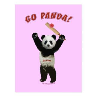 Va el grillo del oso de panda tarjetas postales