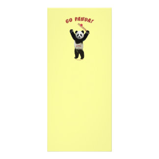 Va el grillo del oso de panda tarjeta publicitaria
