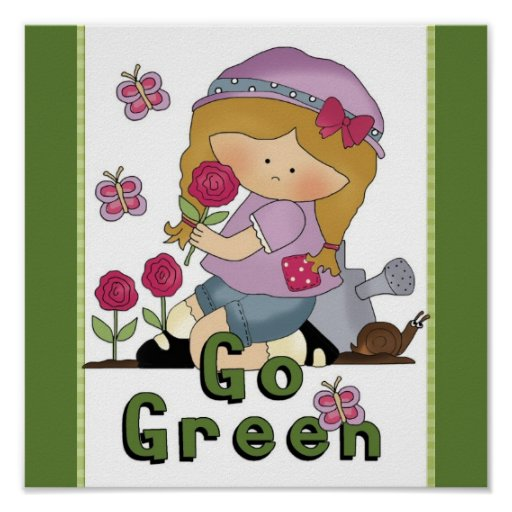 Va el jardín verde impresiones