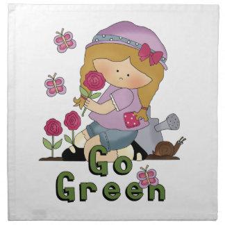 Va el jardín verde servilletas de papel