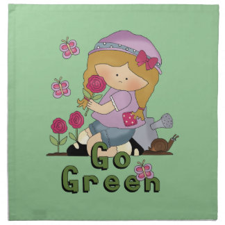 Va el jardín verde servilleta