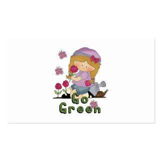 Va el jardín verde tarjetas de visita