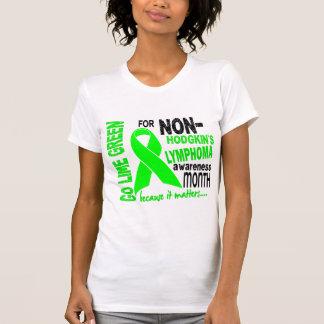 Va el mes de la conciencia del linfoma de la verde playera