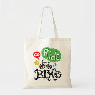 Va el paseo una bici - monte en bicicleta el bolso bolsa tela barata
