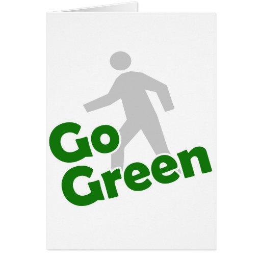 va el paseo verde tarjeta de felicitación