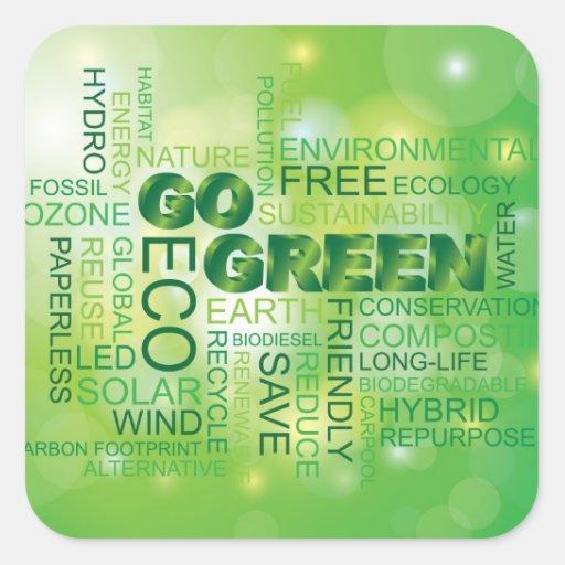 Va el pegatina verde de la nube de la palabra