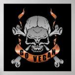 Va el poster del cráneo del vegano