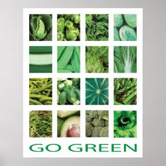 Va el poster verde del arte de la cocina de las ve