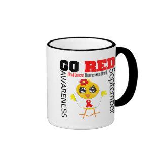 Va el rojo para el mes v1 de la conciencia del cán tazas de café