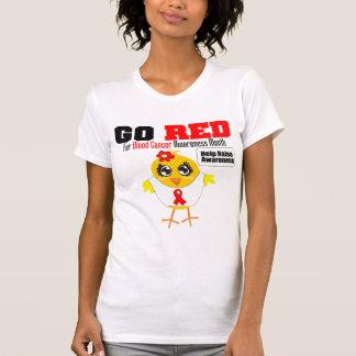 Va el rojo para el mes v2 de la conciencia del cán camiseta