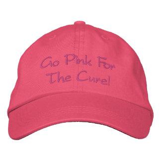 ¡Va el rosa para la curación gorra Gorra De Béisbol Bordada