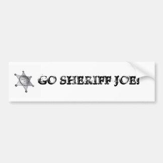 ¡VA EL SHERIFF JOE! ETIQUETA DE PARACHOQUE