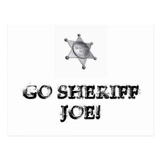 ¡Va el sheriff Joe! Postal