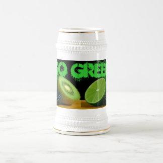 Va el stein verde jarra de cerveza