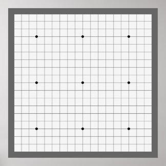 Va el tablero del juego (19x19) (Vers 1) Póster