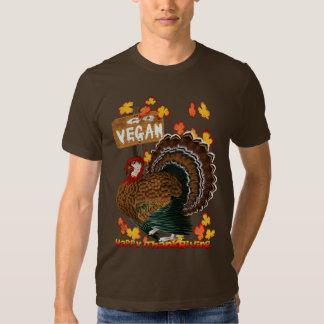 ¡Va el vegano! Camisetas de la acción de gracias Playera