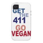 Va el vegano consigue los 411 Case-Mate iPhone 4 carcasa