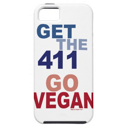 Va el vegano consigue los 411 iPhone 5 Case-Mate funda