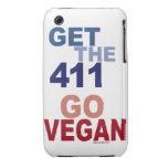 Va el vegano consigue los 411 iPhone 3 Case-Mate fundas