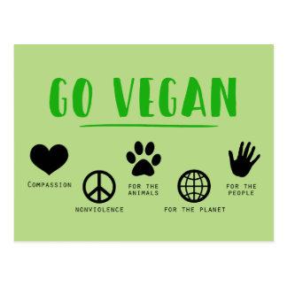 Va el vegano tarjetas postales