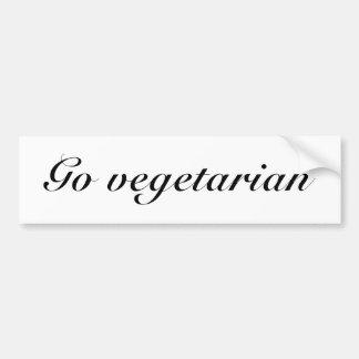 Va el vegetariano pegatina de parachoque