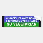Va el vegetariano etiqueta de parachoque