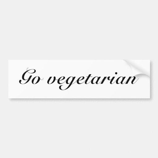 Va el vegetariano pegatina para auto