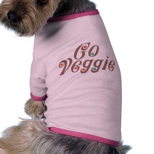 Va el Veggie Camiseta Con Mangas Para Perro