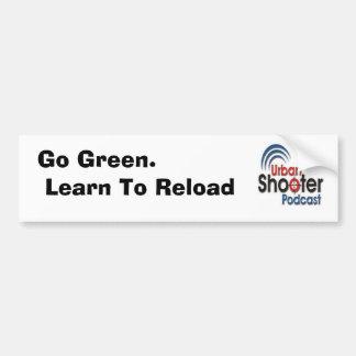 Va el verde.  Aprenda recargar a la pegatina para  Pegatina Para Auto