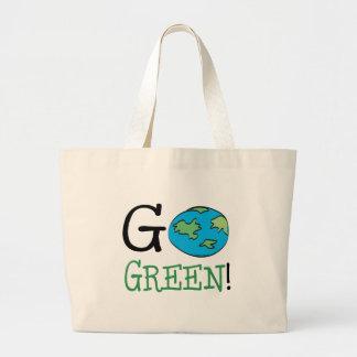 Va el verde bolsa tela grande