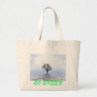 Va el verde bolsas de mano