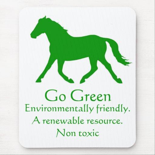 Va el verde, caballo alfombrilla de ratones
