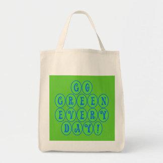 Va el verde cada día Totebags Bolsa Tela Para La Compra