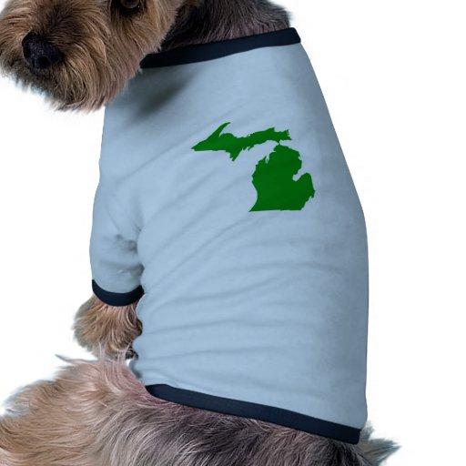 Va el verde camiseta con mangas para perro